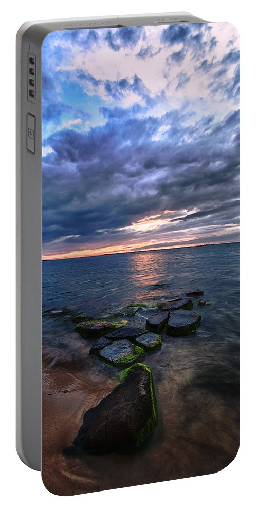 Sunset Portable Battery Charger featuring the photograph Great South Bay by Rick Berk