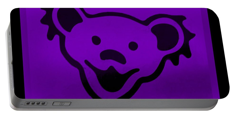 Greatful Dead Portable Battery Charger featuring the photograph Greatful Dead Dancing Bear In Purple by Rob Hans