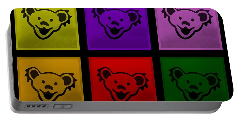 Greatful Dead Portable Battery Charger featuring the photograph Greatful Dead Dancing Bears In Multi Colors by Rob Hans