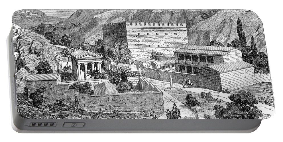 Ancient Portable Battery Charger featuring the photograph Greece: Road To Athens by Granger