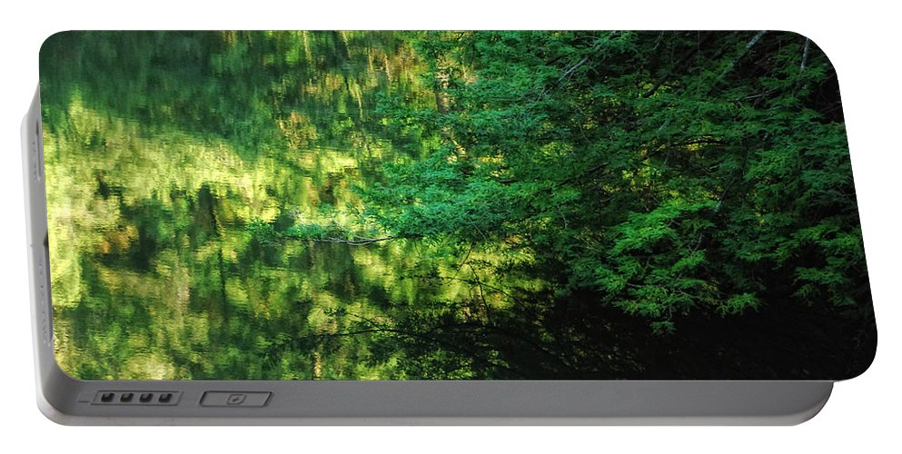 Tree Portable Battery Charger featuring the photograph Green Dream by Donna Blackhall