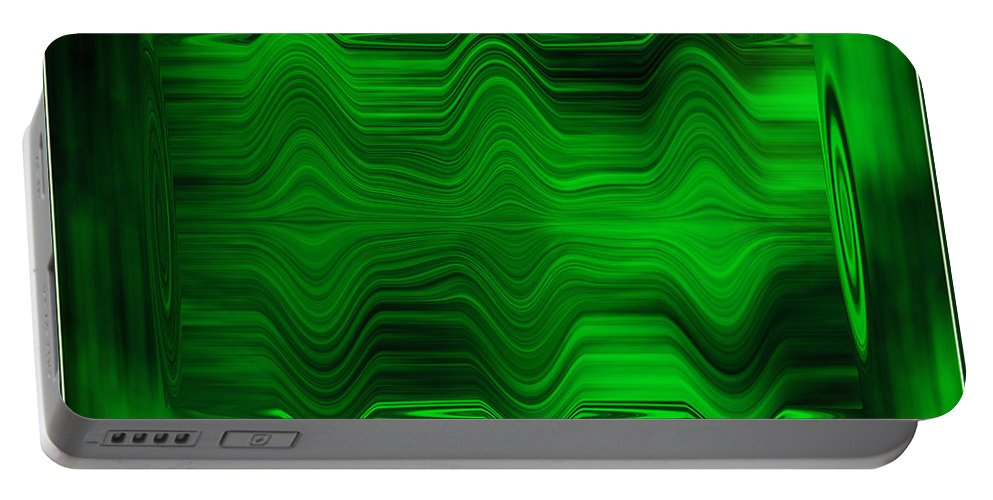 Abstract Portable Battery Charger featuring the photograph Green Waters by DigiArt Diaries by Vicky B Fuller