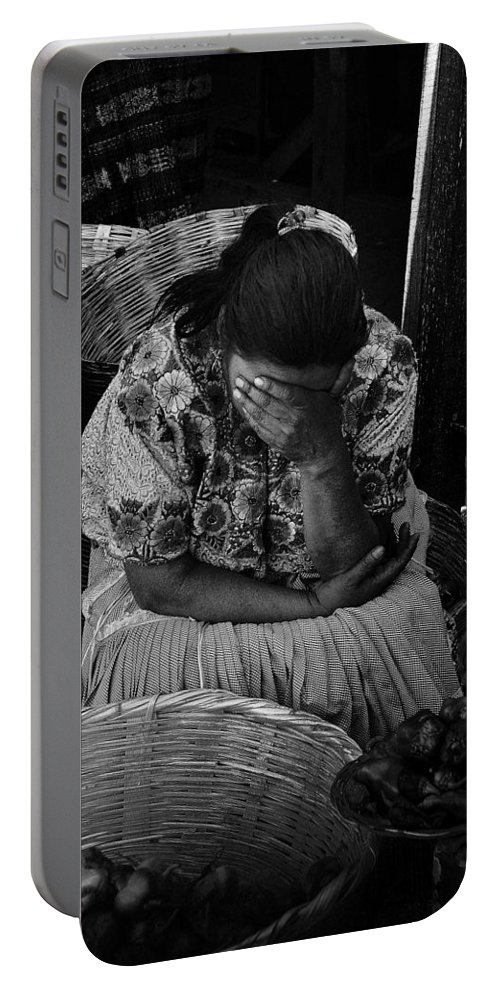 Grief Portable Battery Charger featuring the photograph Grief by Tom Bell