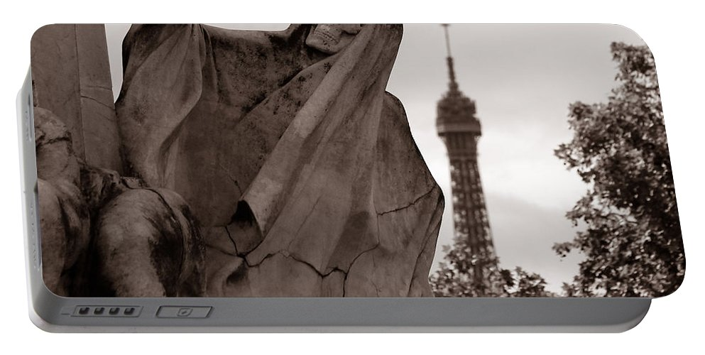 Eiffel Tower Portable Battery Charger featuring the photograph Grim Reaper by Andrew Fare