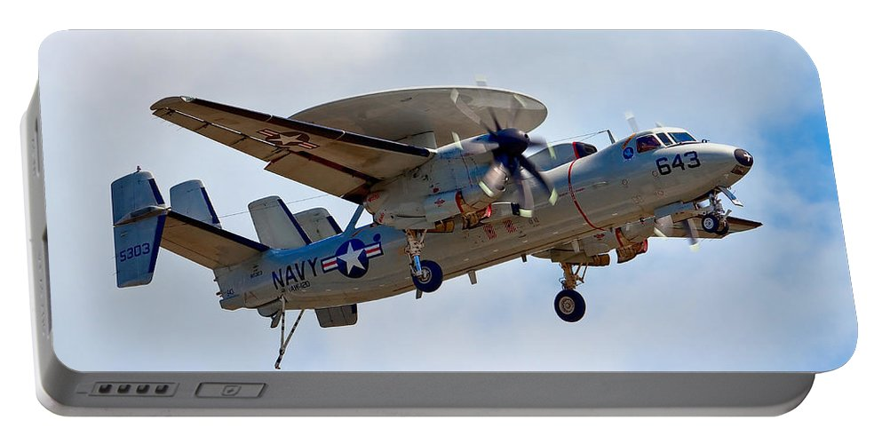 Airshows Portable Battery Charger featuring the photograph Grumman E-2 Hawkeye by Bill Lindsay