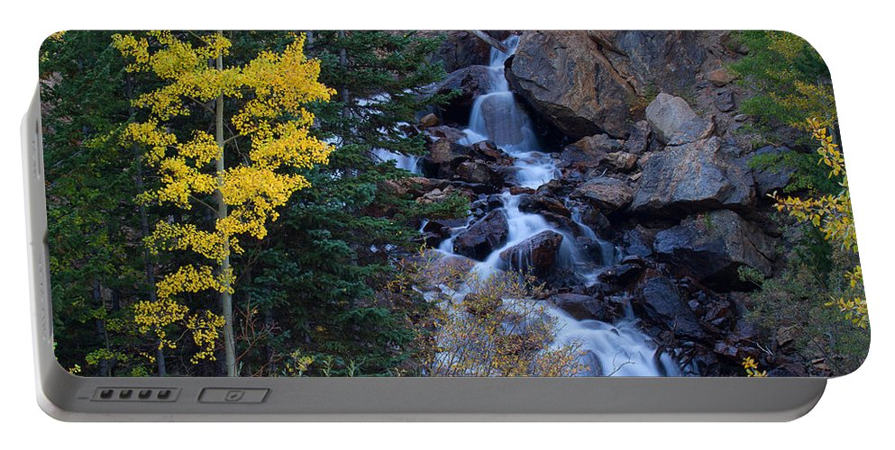 Rivers & Streams Photograph Portable Battery Charger featuring the photograph Guanella Falls by Jim Garrison