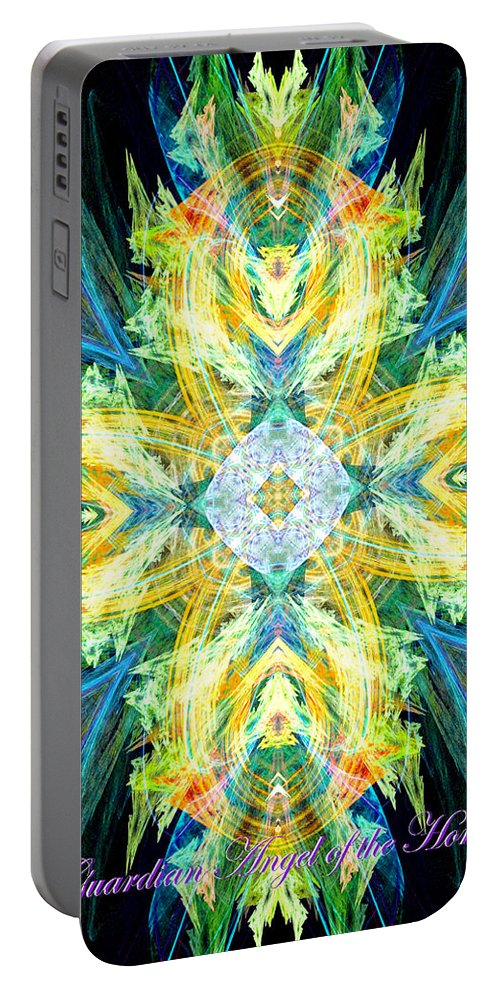 Angel Portable Battery Charger featuring the digital art Guardian Angel Of The Home by Diana Haronis
