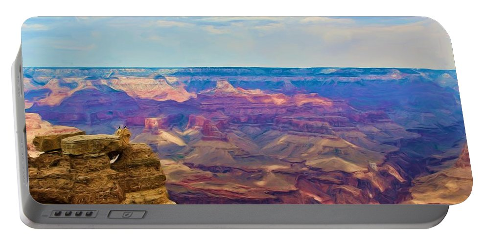 Crows Portable Battery Charger featuring the photograph Guardians Of The Canyon by Heidi Smith