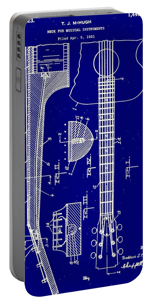 Guitar Truss Rod Patent 1923 Portable Battery Charger featuring the photograph Gibson Guitar Truss Rod Patent 1923 by Bill Cannon