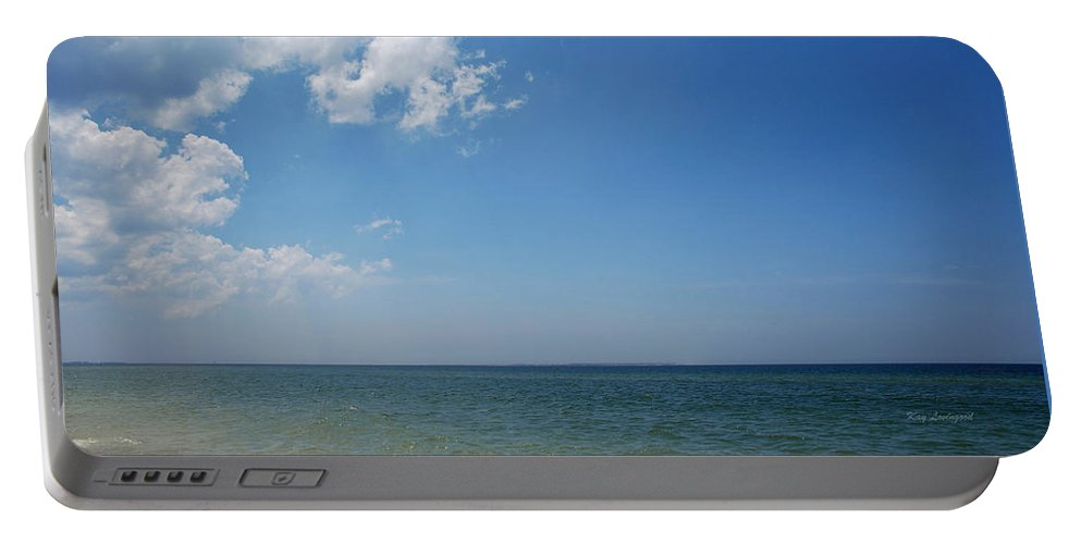 Water Portable Battery Charger featuring the photograph Gulf Sky by Kay Lovingood