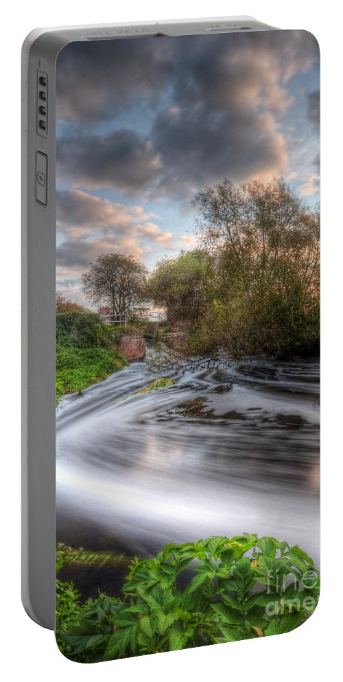 Hdr Portable Battery Charger featuring the photograph Gush Forth 1.0 by Yhun Suarez