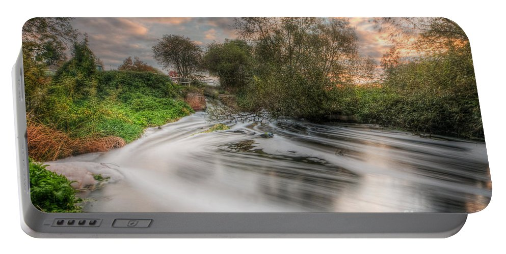 Hdr Portable Battery Charger featuring the photograph Gush Forth 3.0 by Yhun Suarez