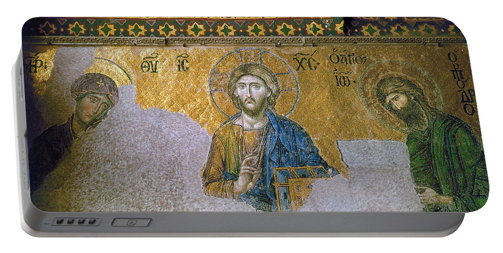 13th Century Portable Battery Charger featuring the photograph Hagia Sophia: Mosaic by Granger
