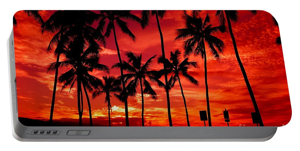 Sunset Portable Battery Charger featuring the photograph Haleiwa by Mark Gilman