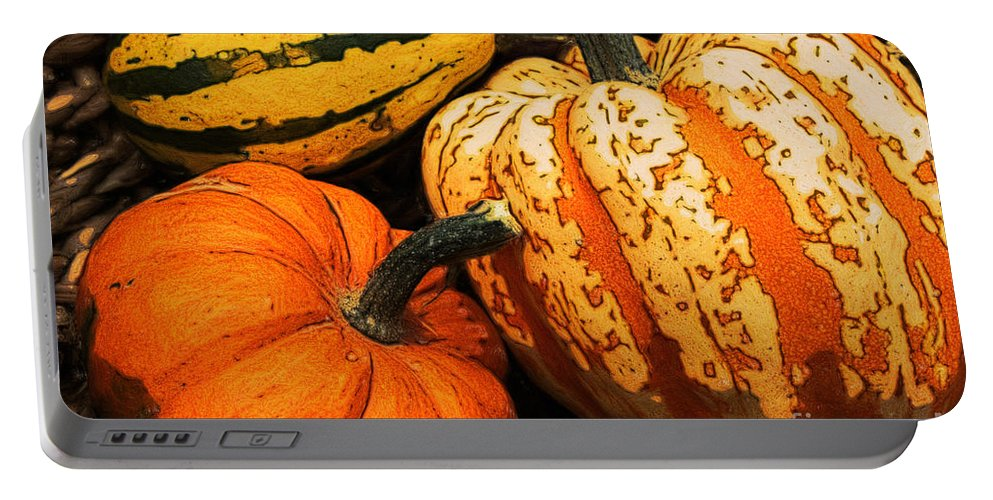 Halloween Portable Battery Charger featuring the photograph Halloween Colors by Jutta Maria Pusl