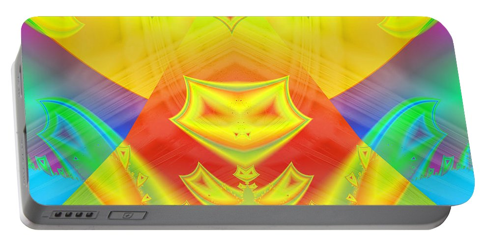 Ultra Fractal Portable Battery Charger featuring the digital art Halloween Trick Or Treat by Mario Carini