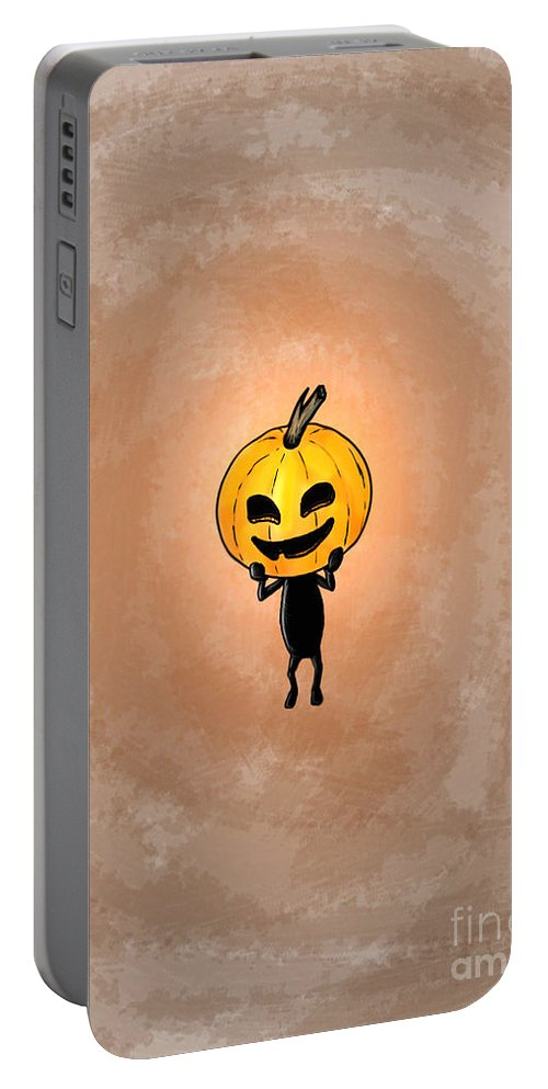 Pop Art Portable Battery Charger featuring the painting Hallowhead by George Pedro