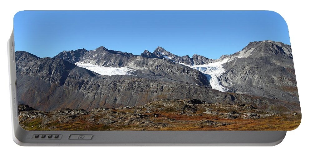 Doug Lloyd Portable Battery Charger featuring the photograph Hanging Glacier by Doug Lloyd