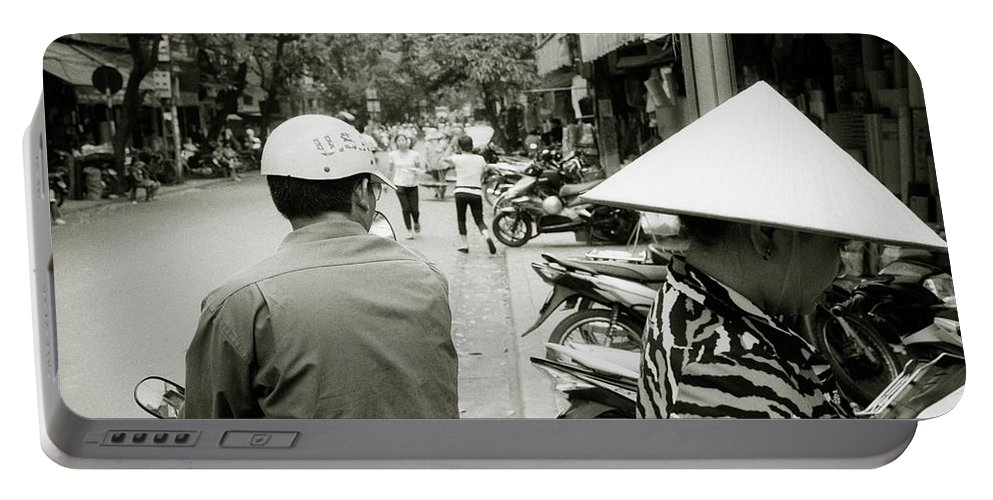 Asia Portable Battery Charger featuring the photograph Hanoi In Vietnam by Shaun Higson