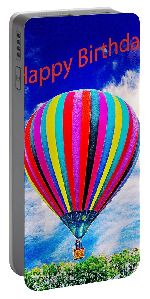 Balloon Portable Battery Charger featuring the photograph Happy Birthday by Lizi Beard-Ward