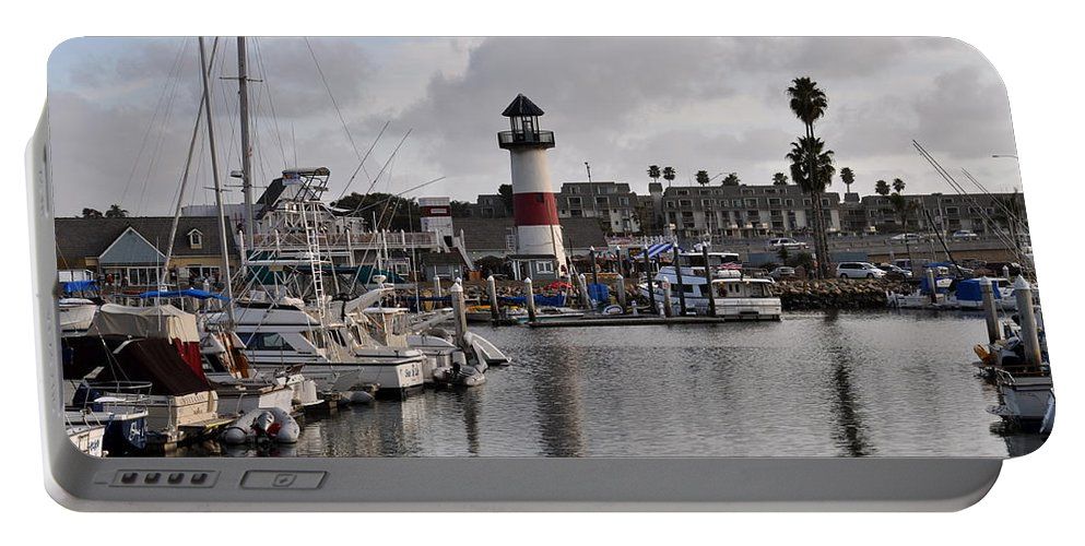 Oceanside Portable Battery Charger featuring the photograph Harbor Lighthouse by Bridgette Gomes