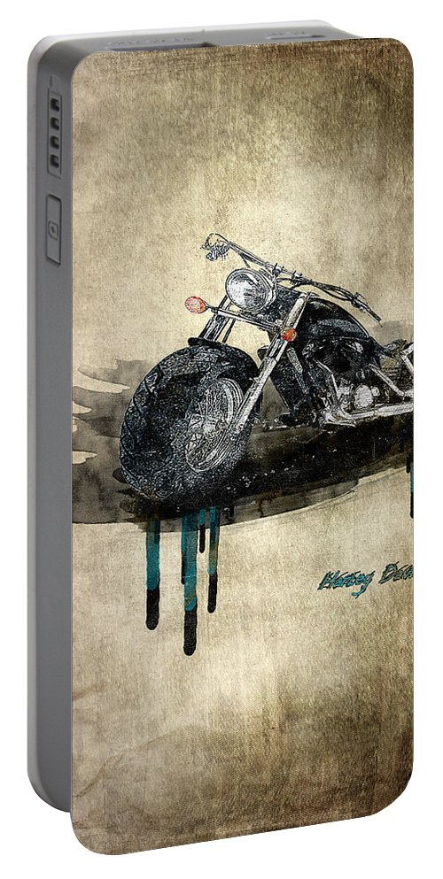 Active Portable Battery Charger featuring the digital art Harley Davidson by Svetlana Sewell