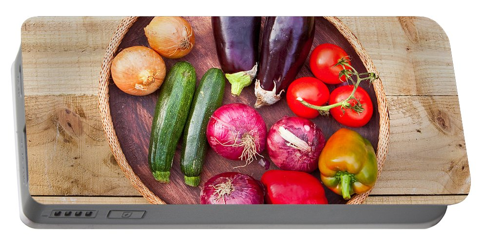 Assortment Portable Battery Charger featuring the photograph Harvest by Tom Gowanlock
