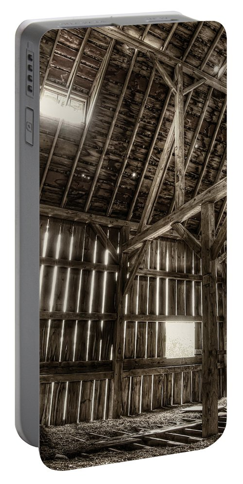 Barn Portable Battery Charger featuring the photograph Hay Loft by Scott Norris