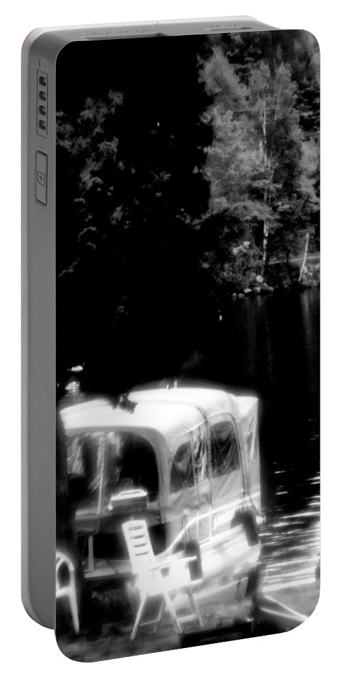 Boathouse Portable Battery Charger featuring the photograph Hazy Summer by Burney Lieberman