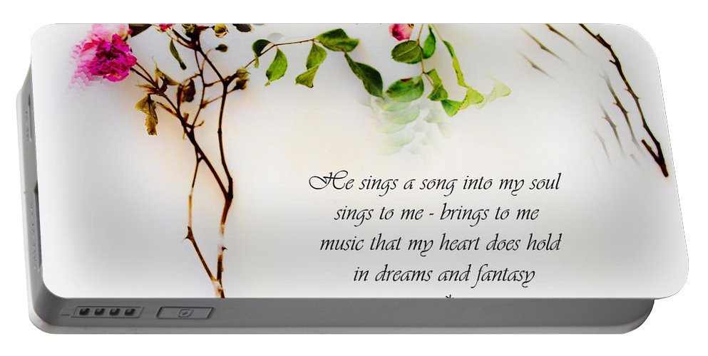 Prose Portable Battery Charger featuring the photograph He Sings Series Image 1 by Marie Jamieson