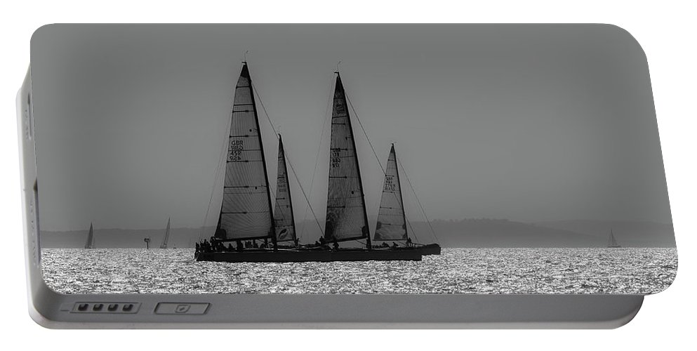 Solent Portable Battery Charger featuring the photograph Heading Home Bramble Bank by Gary Eason