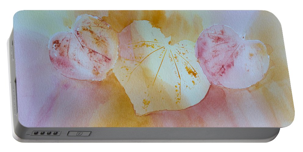 Hearts Portable Battery Charger featuring the painting Heart Trio by Heidi Smith