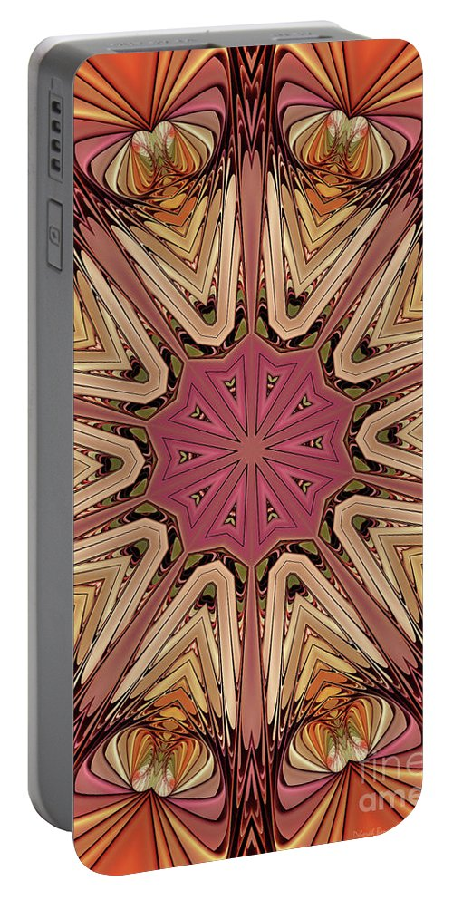 Hearts Portable Battery Charger featuring the digital art Hearts Desire by Deborah Benoit