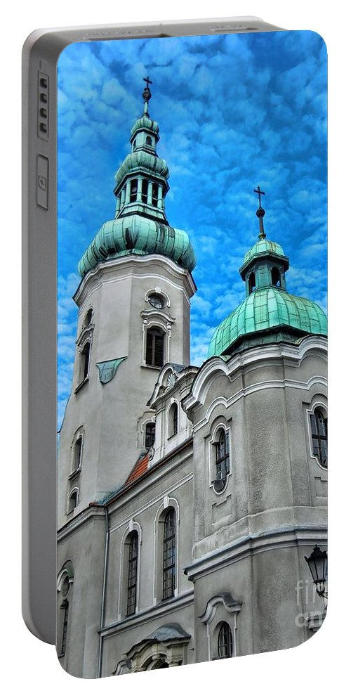 Heavenly Blues Portable Battery Charger featuring the photograph Heavenly Blues				 by Mariola Bitner