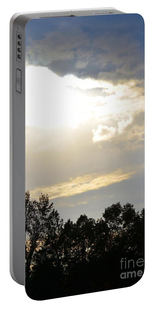 Heaven's Light 2 Portable Battery Charger featuring the photograph Heaven's Light 2 by Maria Urso