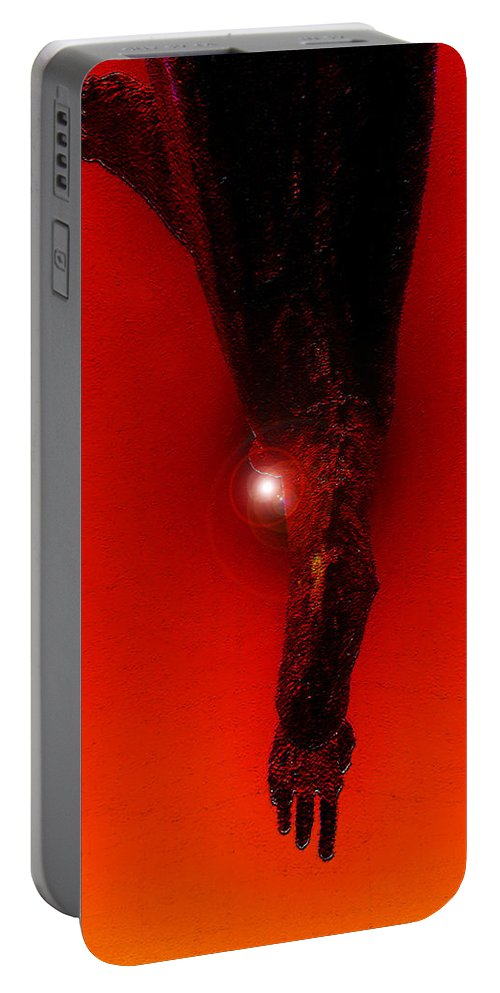 Art Portable Battery Charger featuring the painting Hell Fall by David Lee Thompson