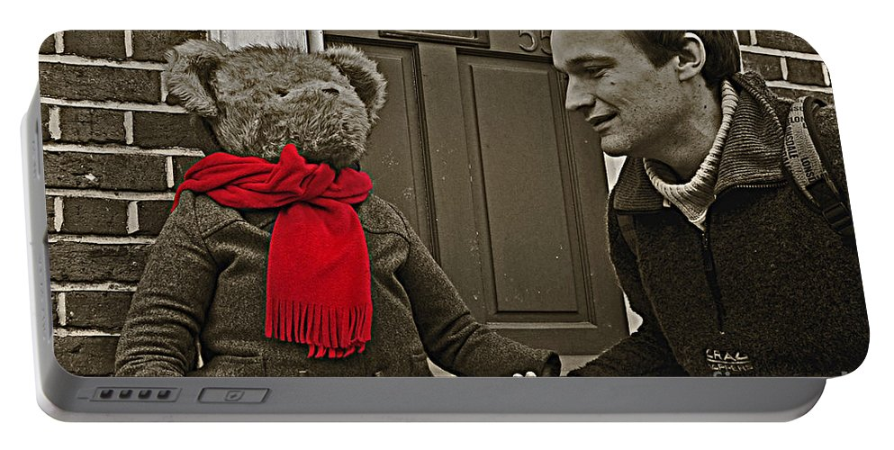 Bear Portable Battery Charger featuring the photograph Hello Mr Bear by Rob Hawkins