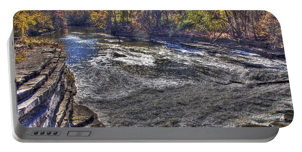 Portable Battery Charger featuring the photograph Henry Ford Estate Waterway Dearborn Mi by Nicholas Grunas