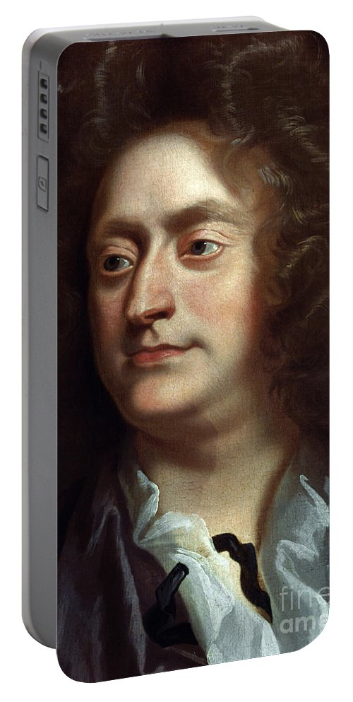 1695 Portable Battery Charger featuring the painting Henry Purcell by Granger
