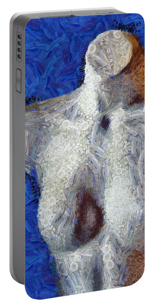 Female Portable Battery Charger featuring the mixed media Her Figure 2 by Angelina Vick