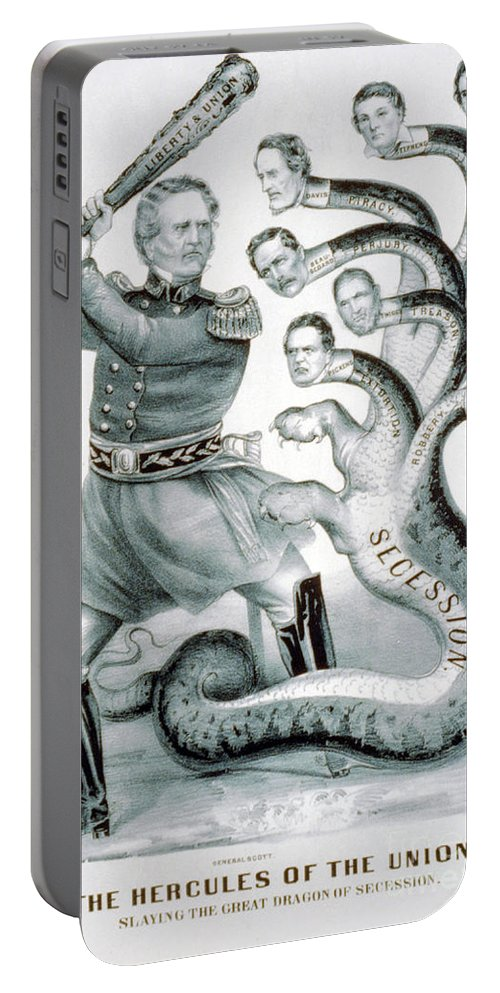 History Portable Battery Charger featuring the photograph Hercules Of The Union, 1861 by Photo Researchers