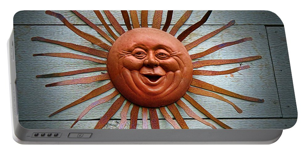 Sun Portable Battery Charger featuring the photograph Here Comes The Sun by Dave Mills