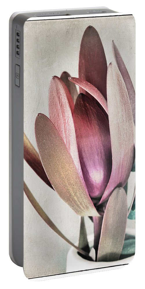 Florals Portable Battery Charger featuring the photograph Hideaway by Linda Dunn