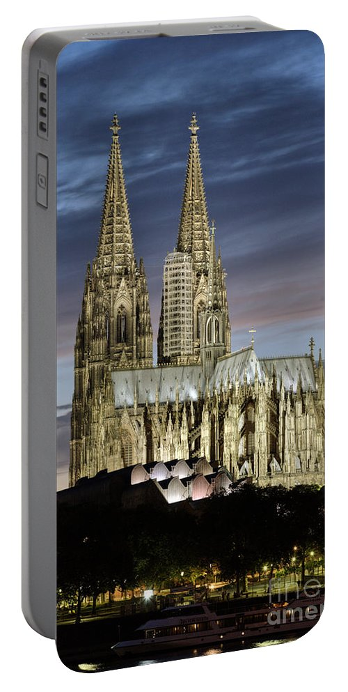 Cologne Cathedral Portable Battery Charger featuring the photograph High Cathedral Of Sts. Peter And Mary In Cologne by Heiko Koehrer-Wagner