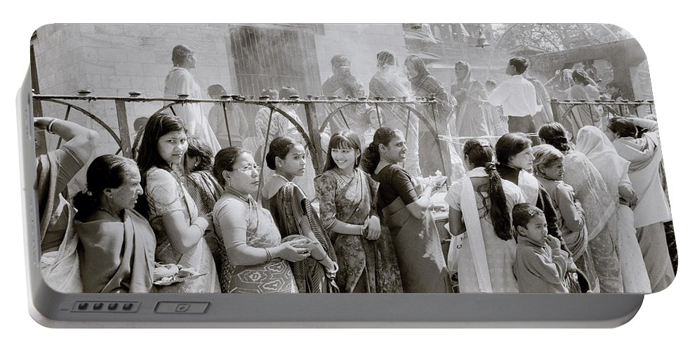 Nepali Portable Battery Charger featuring the photograph Hindu Pilgrims by Shaun Higson