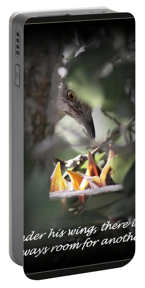 Gods Wing Portable Battery Charger featuring the photograph His Wing by Travis Truelove