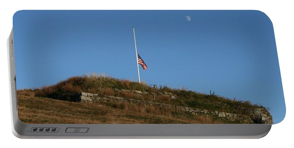 Moon Portable Battery Charger featuring the photograph Historic Climb by Neal Eslinger