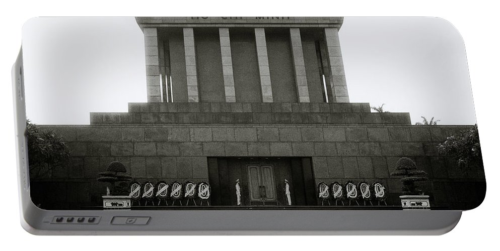 Asia Portable Battery Charger featuring the photograph Ho Chi Minh Mausoleum by Shaun Higson
