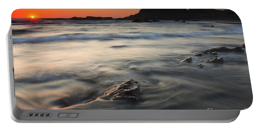 Seal Rock Portable Battery Charger featuring the photograph Holding Back The Sea by Mike Dawson