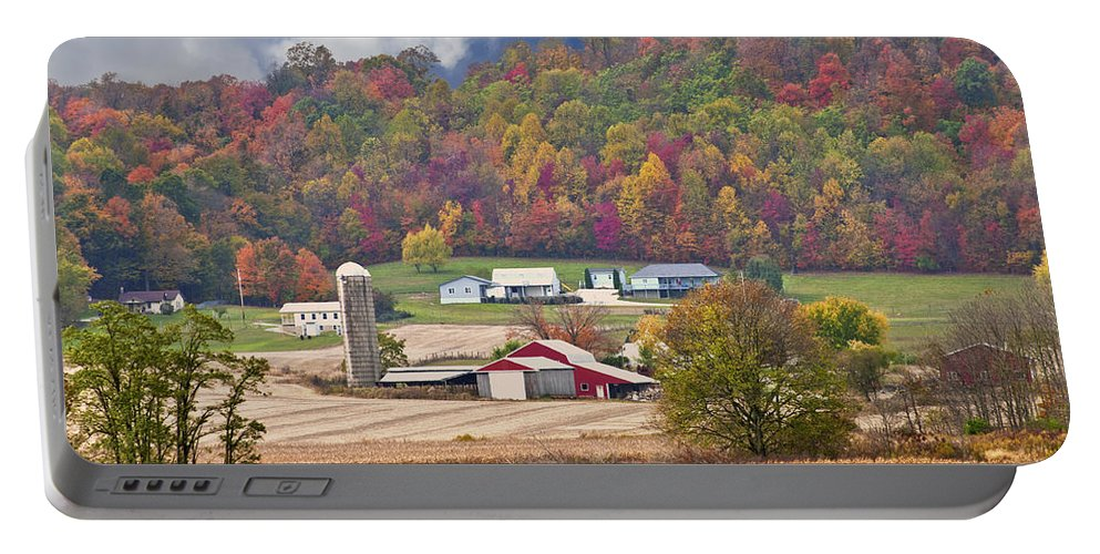 Beans Portable Battery Charger featuring the photograph Holstein Cattle Farm by Randall Branham
